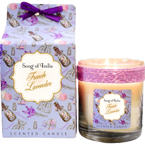 French Lavender Soy Wax Candle in Glass
